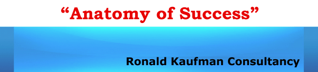 Ronald Kaufman website Anatomy of Success
