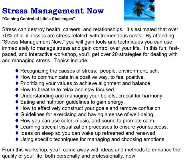 thesis proposal on stress management
